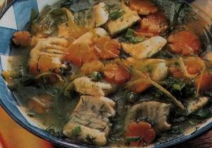 Суп с клецками готовим дома в пост